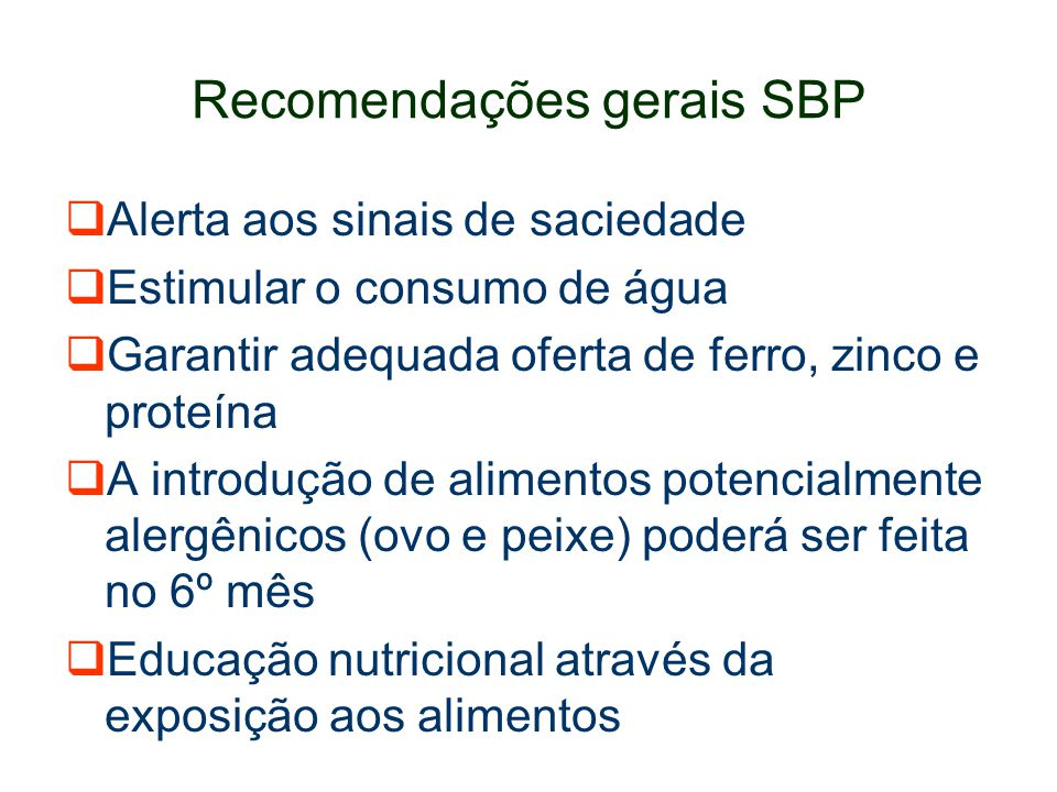 Recomendações gerais SBP