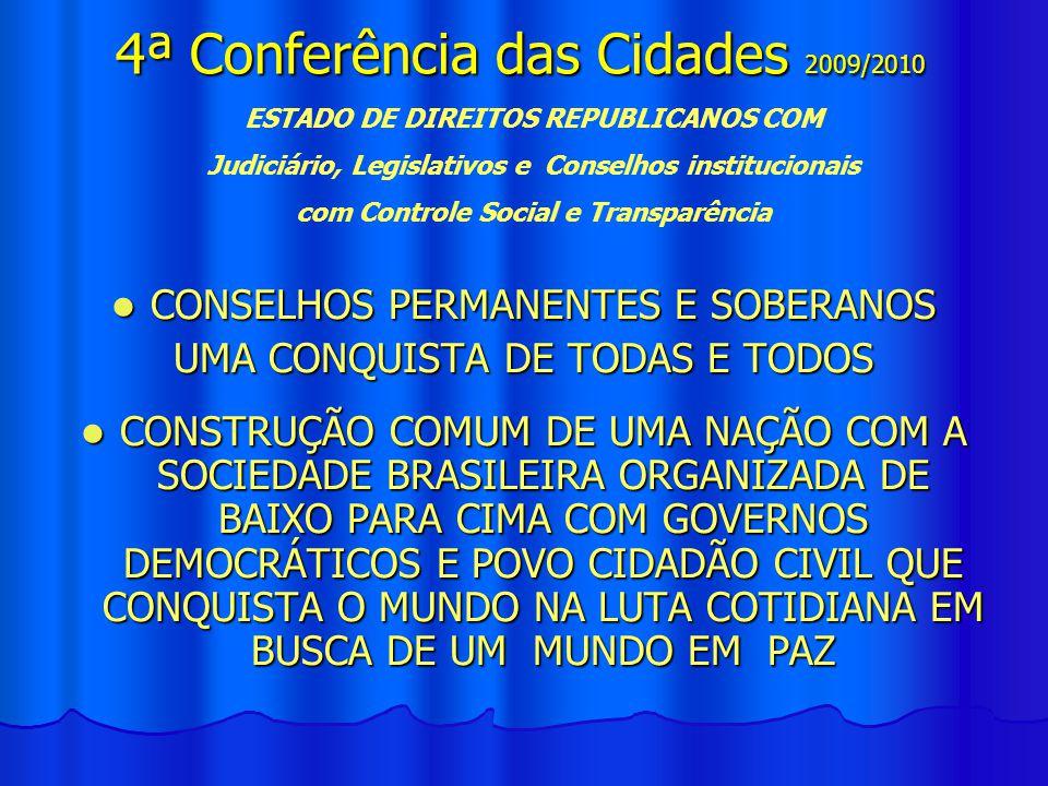 4ª Conferência das Cidades 2009/2010