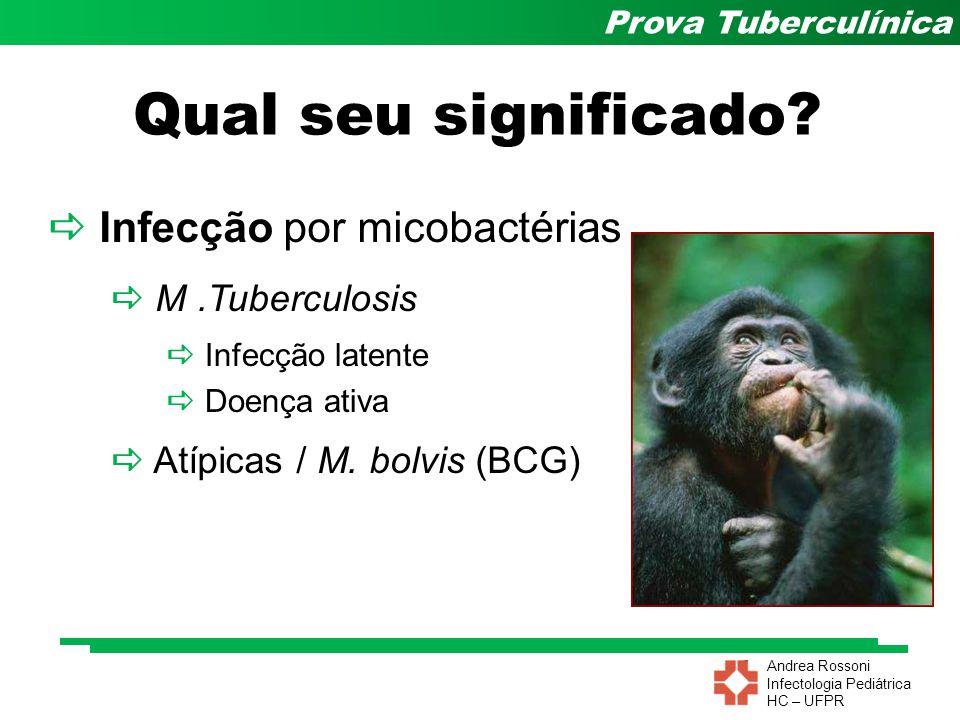 Qual seu significado  Infecção por micobactérias  M .Tuberculosis