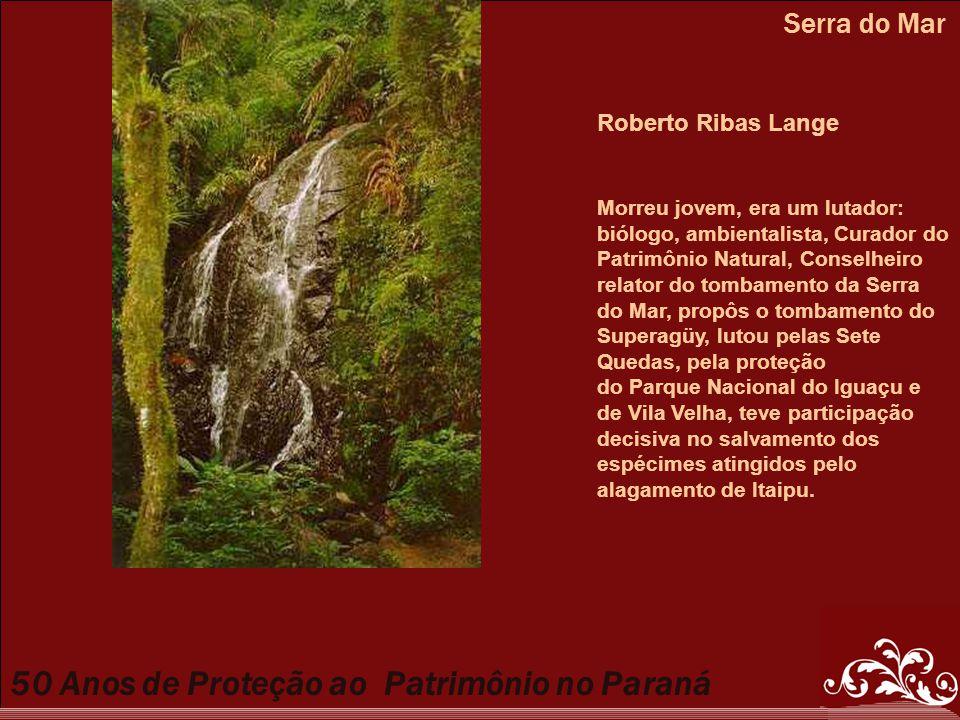 Serra do Mar Roberto Ribas Lange Morreu jovem, era um lutador: