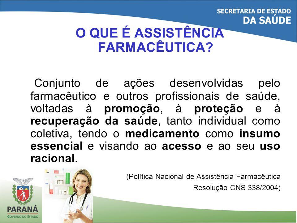 O QUE É ASSISTÊNCIA FARMACÊUTICA