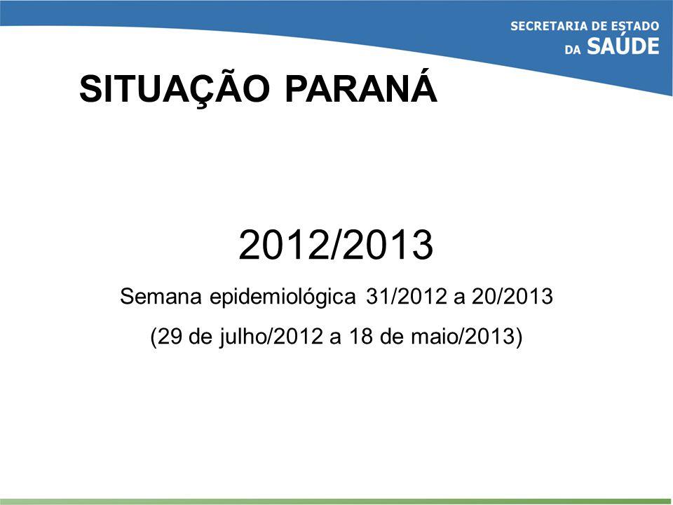 Semana epidemiológica 31/2012 a 20/2013