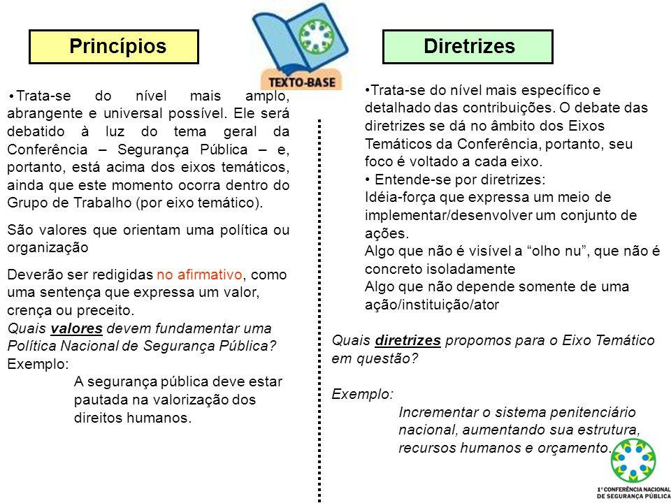Princípios Diretrizes