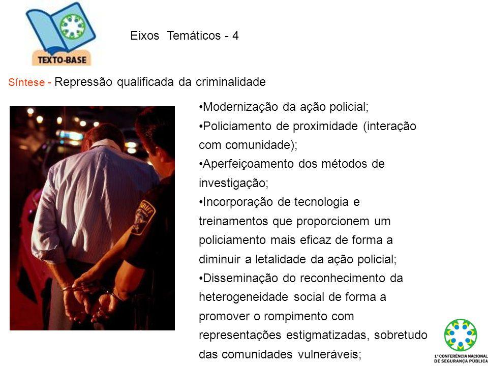 Modernização da ação policial;