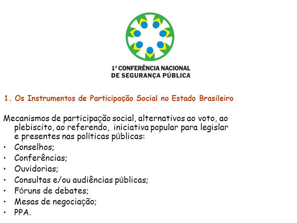 1. Os Instrumentos de Participação Social no Estado Brasileiro