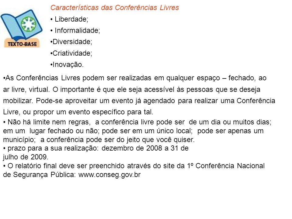Características das Conferências Livres