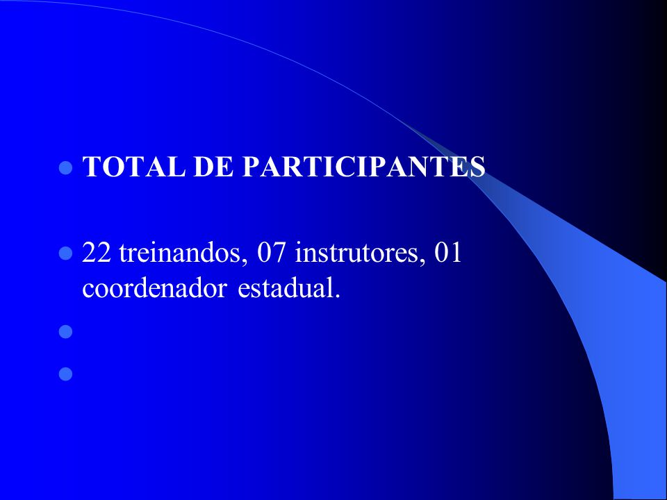 TOTAL DE PARTICIPANTES