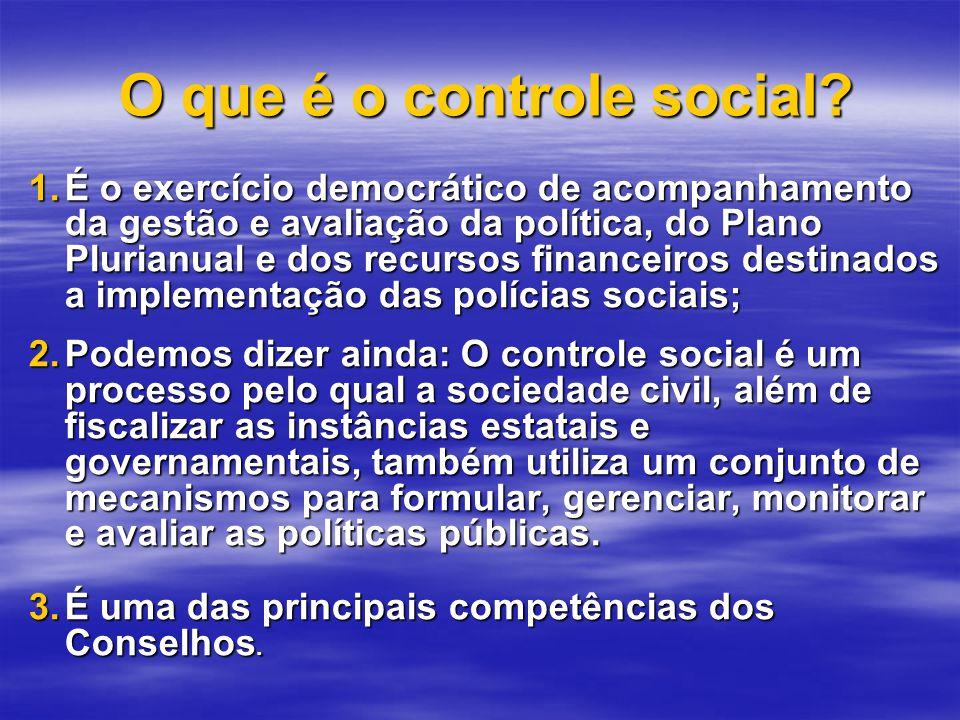 O que é o controle social