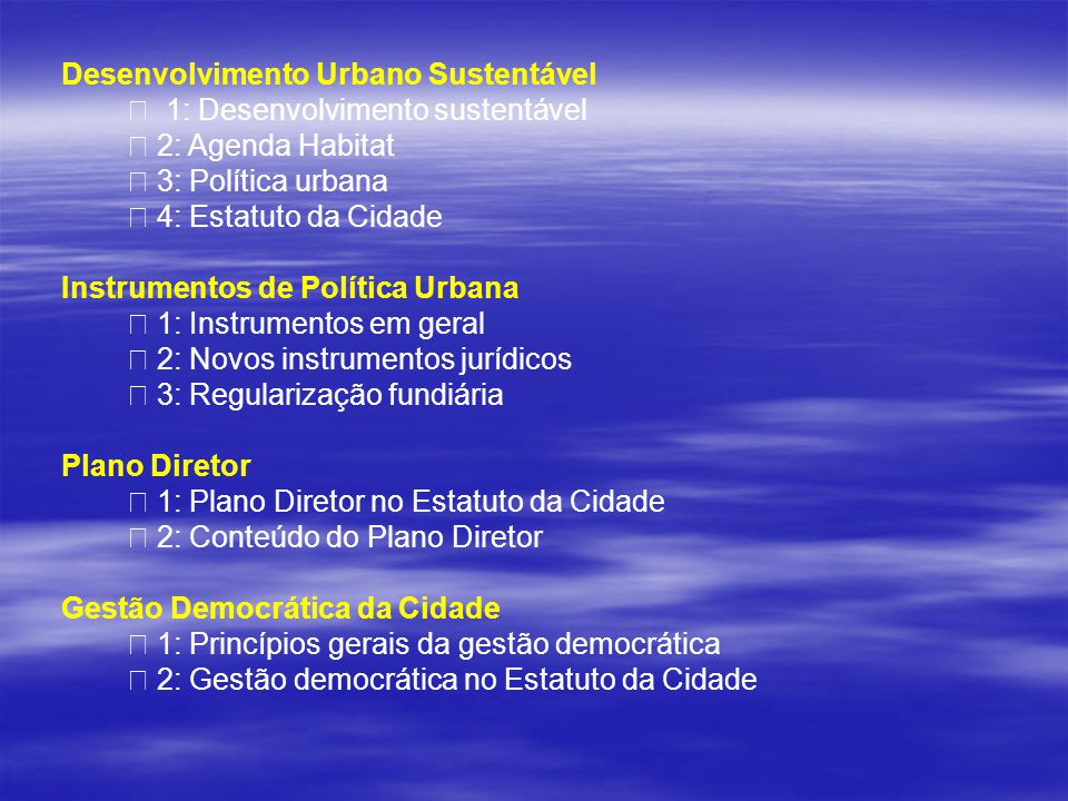 Desenvolvimento Urbano Sustentável