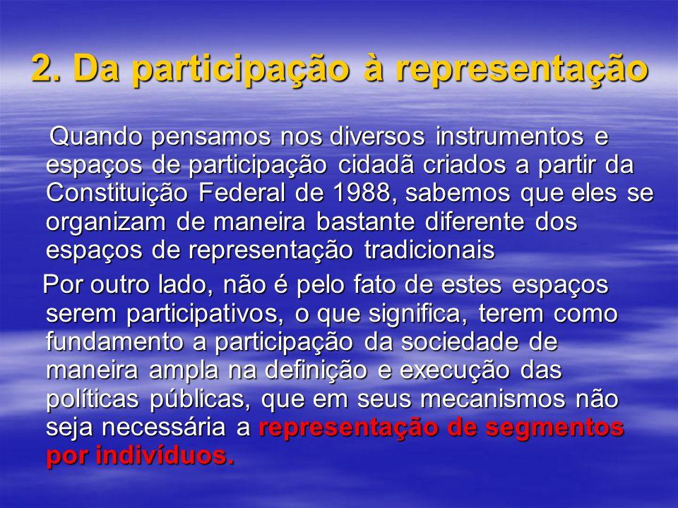 2. Da participação à representação