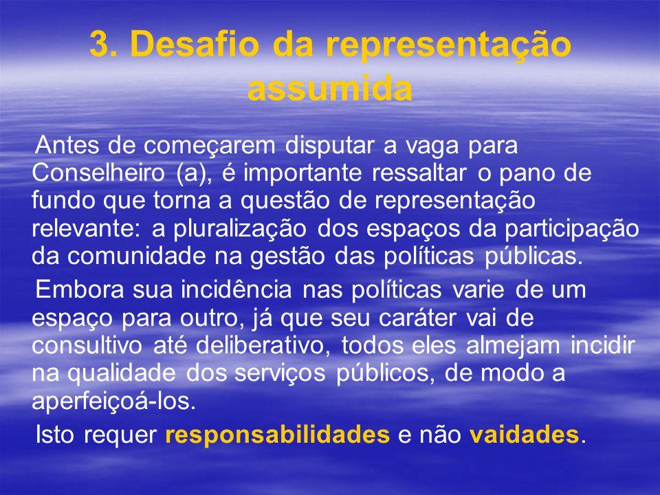 3. Desafio da representação assumida