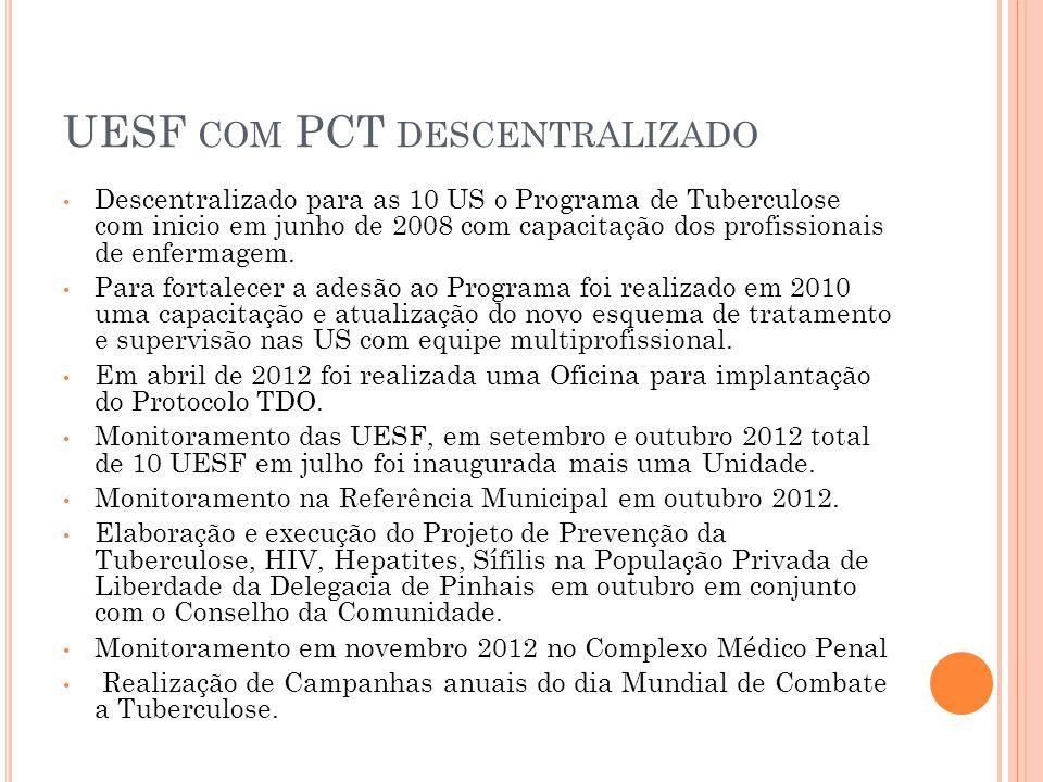UESF com PCT descentralizado