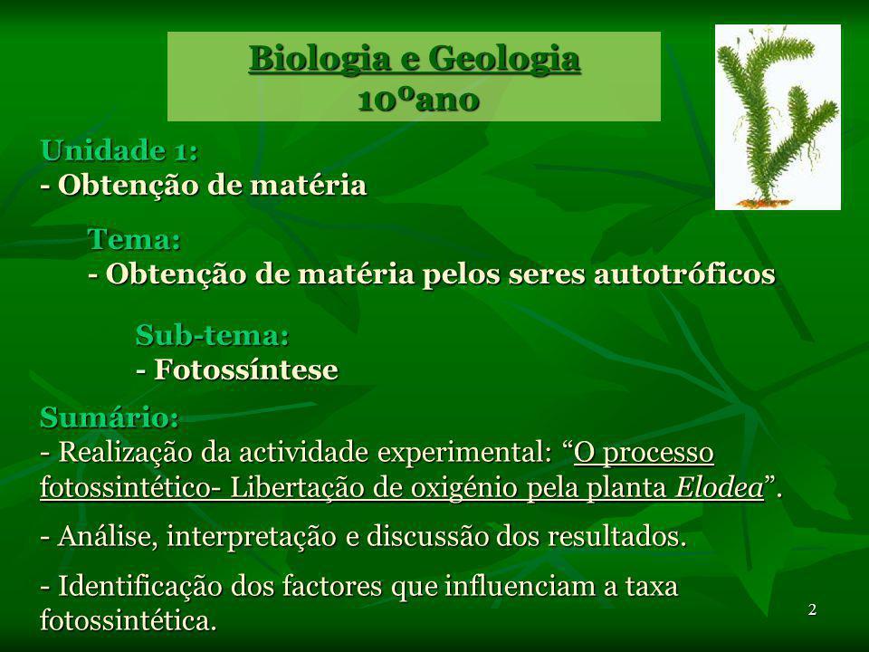 Biologia e Geologia 10ºano