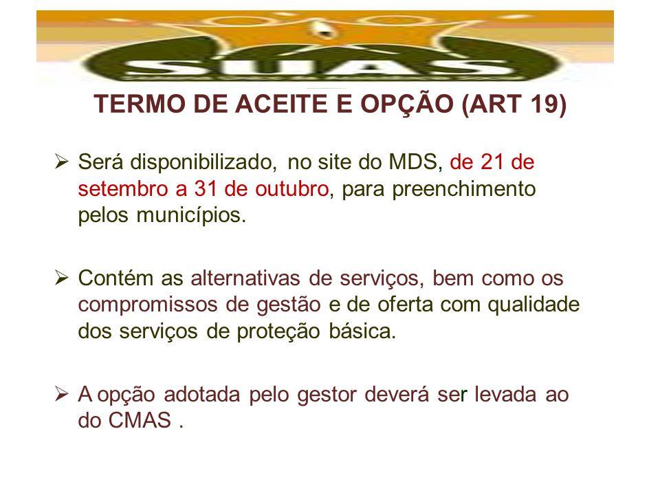 TERMO DE ACEITE E OPÇÃO (ART 19)