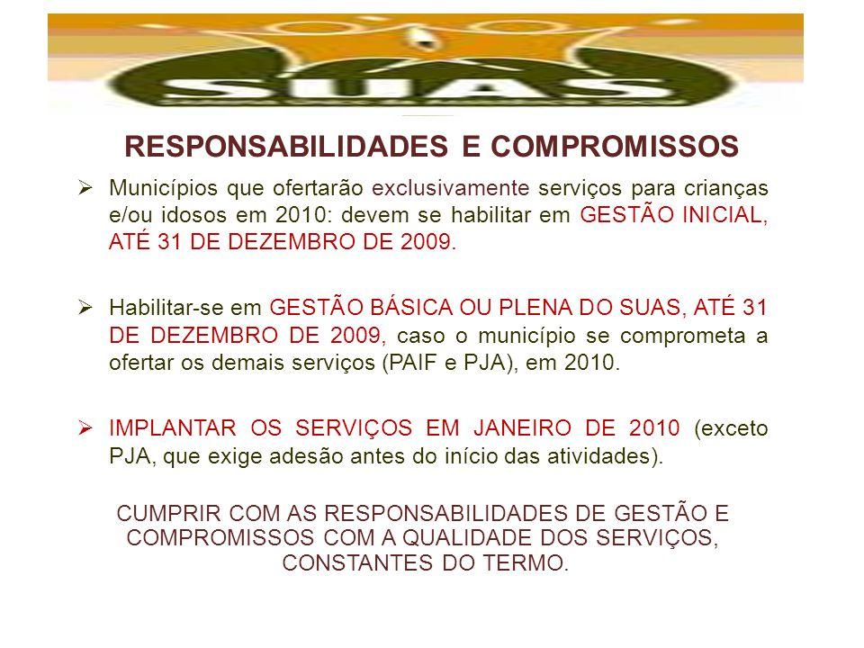 RESPONSABILIDADES E COMPROMISSOS
