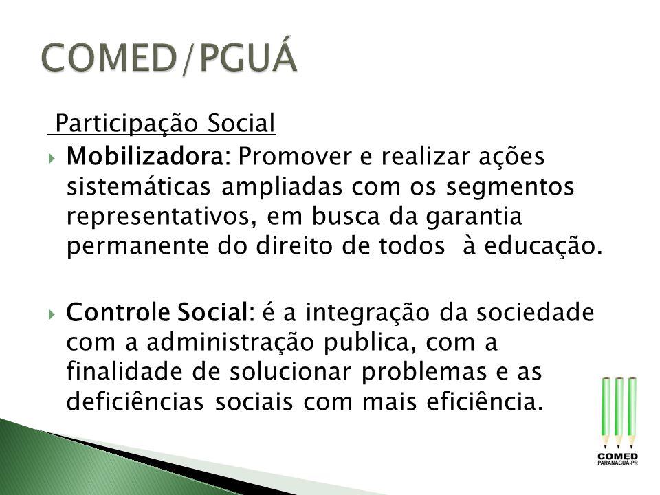 COMED/PGUÁ Participação Social