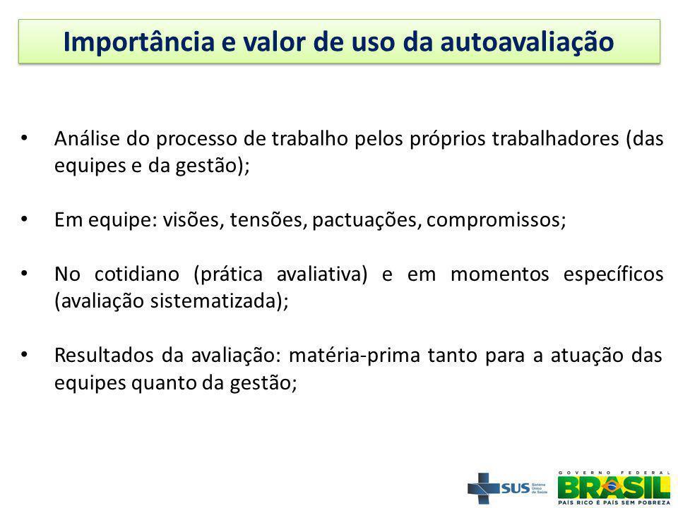 Importância e valor de uso da autoavaliação