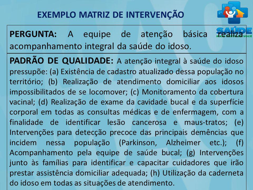 EXEMPLO MATRIZ DE INTERVENÇÃO