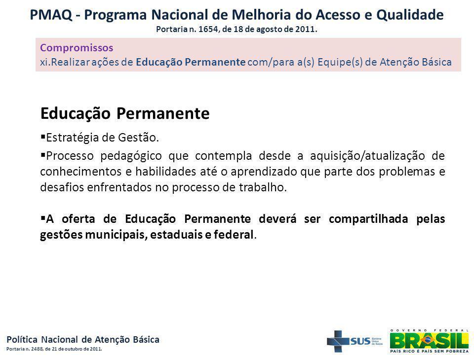 PMAQ - Programa Nacional de Melhoria do Acesso e Qualidade