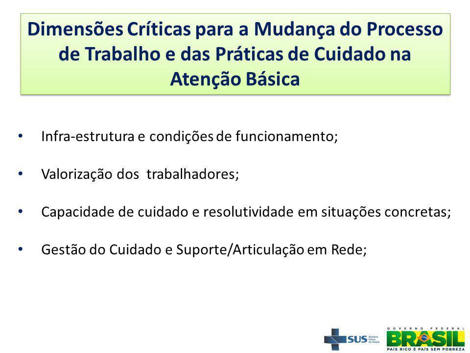 Dimensões Críticas para a Mudança do Processo de Trabalho e das Práticas de Cuidado na Atenção Básica