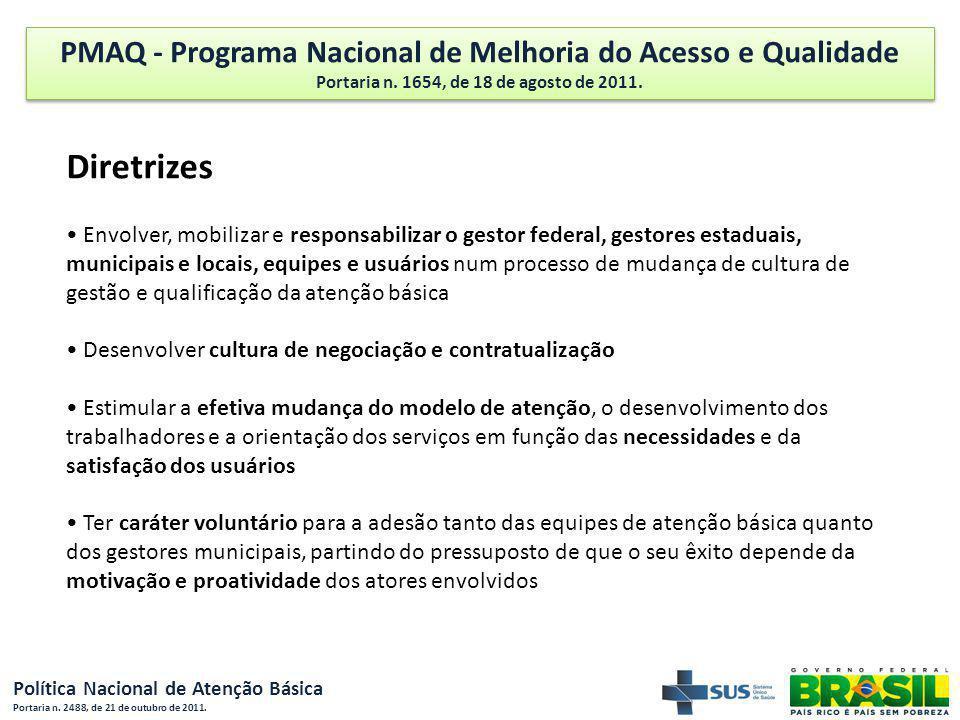 Diretrizes PMAQ - Programa Nacional de Melhoria do Acesso e Qualidade