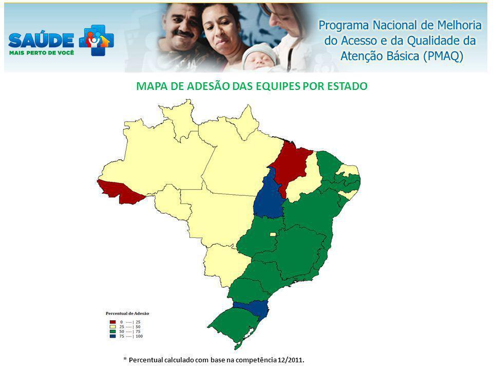 MAPA DE ADESÃO DAS EQUIPES POR ESTADO