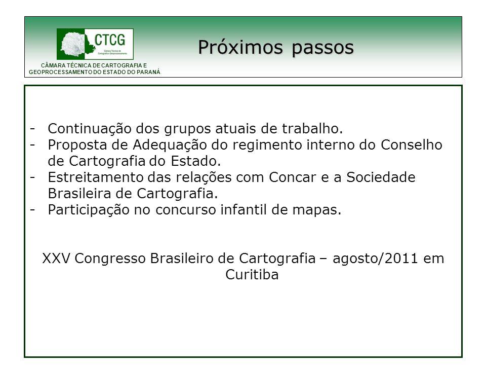 XXV Congresso Brasileiro de Cartografia – agosto/2011 em Curitiba