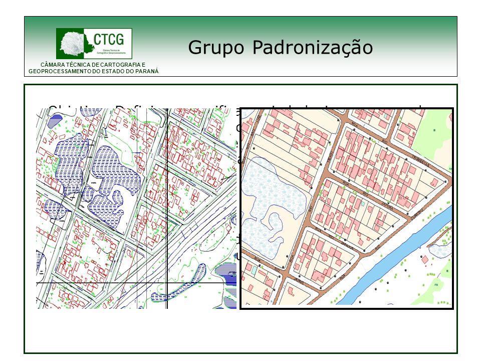 Grupo Padronização 1996- Para a contratação de cartografia foi elaborado pela ctcg o. uma recomendação técnica de padronização cartográfica.