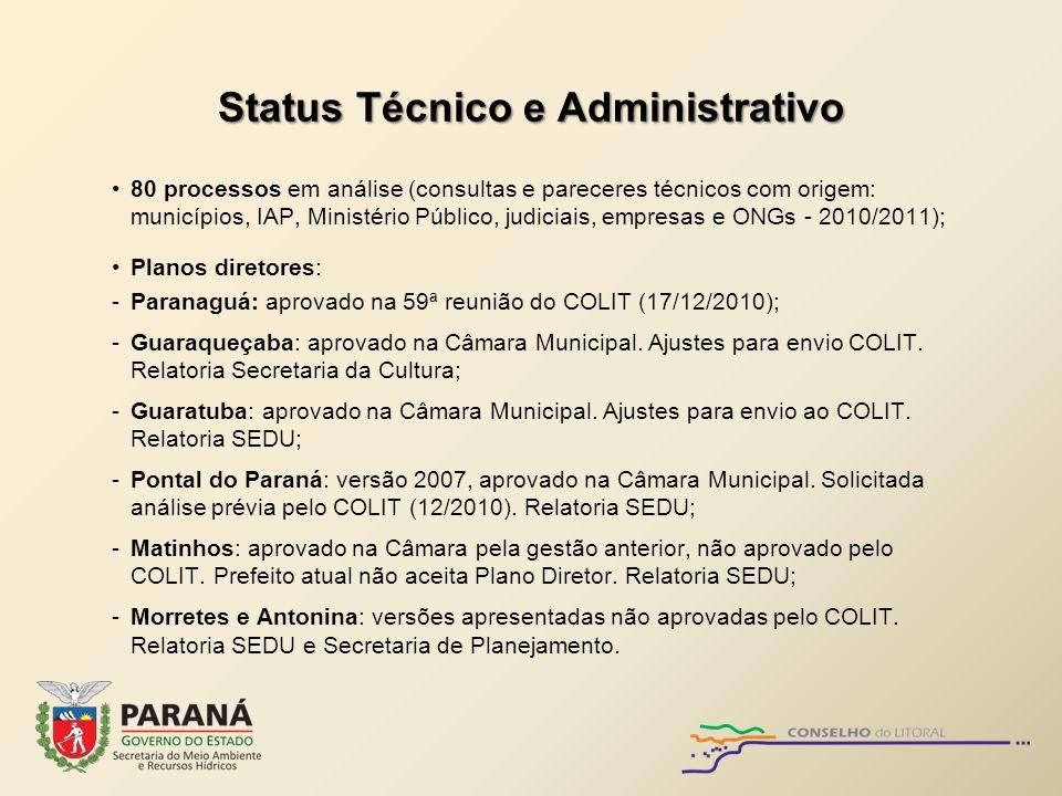 Status Técnico e Administrativo