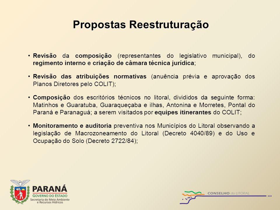 Propostas Reestruturação