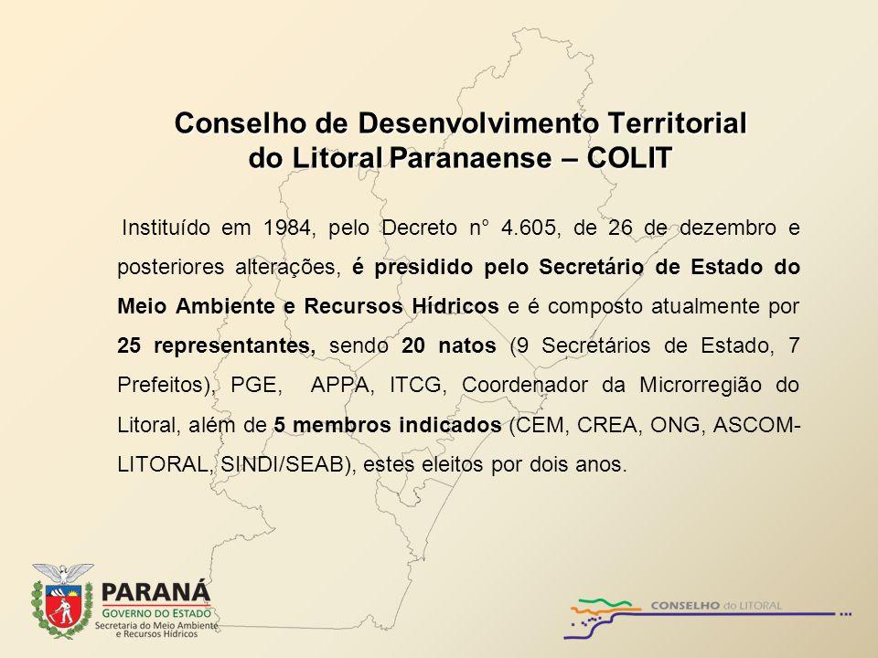 Conselho de Desenvolvimento Territorial do Litoral Paranaense – COLIT