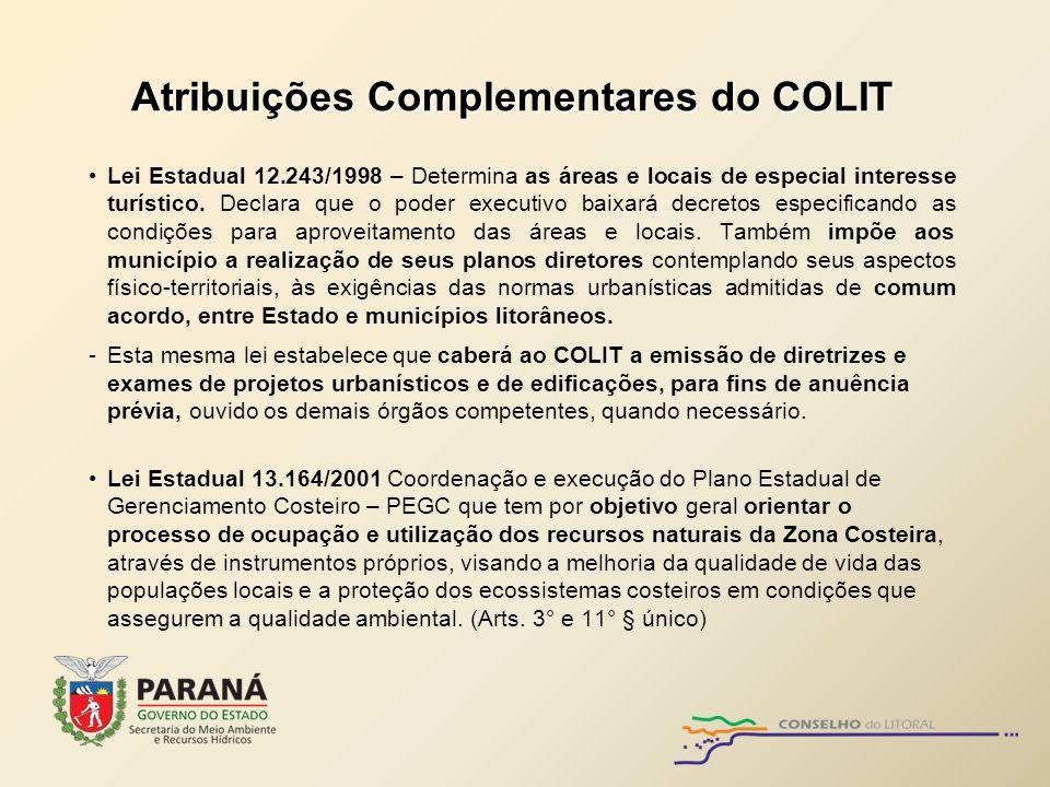 Atribuições Complementares do COLIT