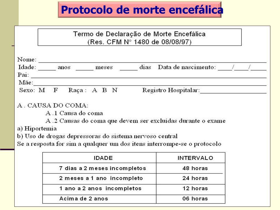 Protocolo de morte encefálica
