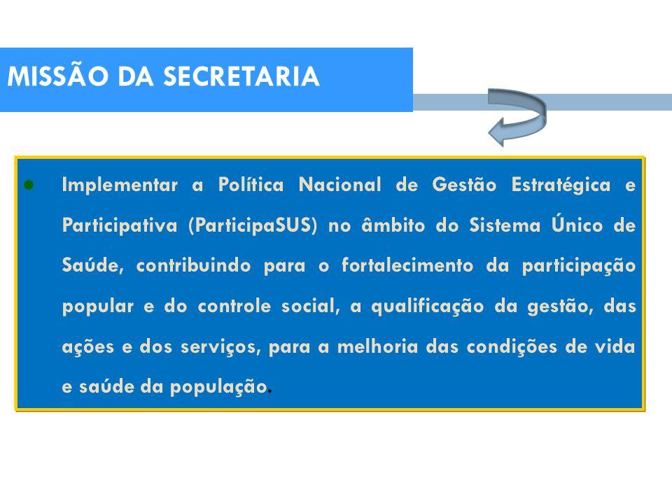 MISSÃO DA SECRETARIA