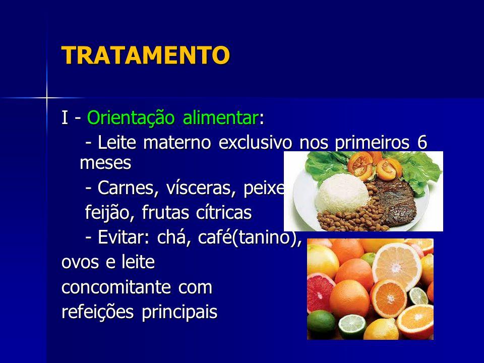 TRATAMENTO I - Orientação alimentar: