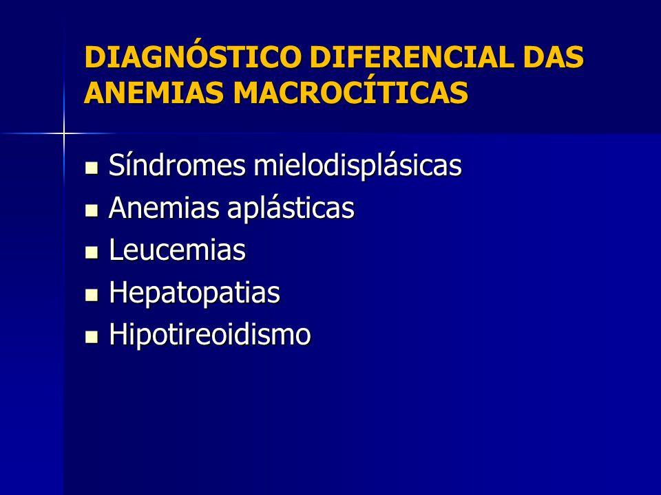 DIAGNÓSTICO DIFERENCIAL DAS ANEMIAS MACROCÍTICAS