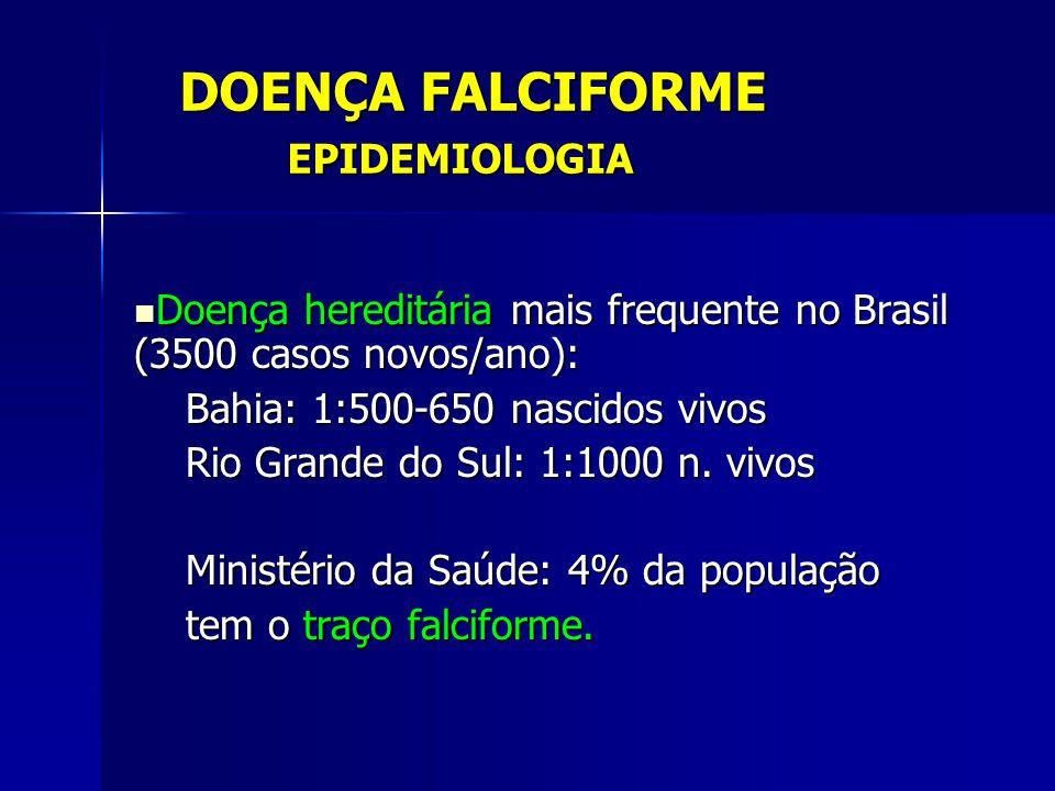 DOENÇA FALCIFORME EPIDEMIOLOGIA