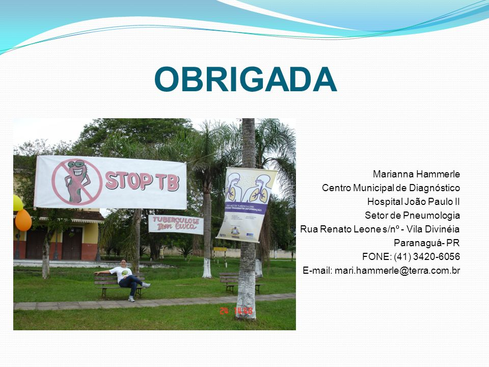 OBRIGADA Marianna Hammerle Centro Municipal de Diagnóstico