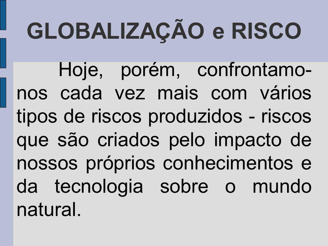 GLOBALIZAÇÃO e RISCO