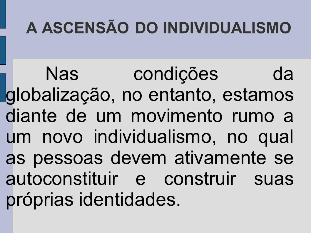 A ASCENSÃO DO INDIVIDUALISMO