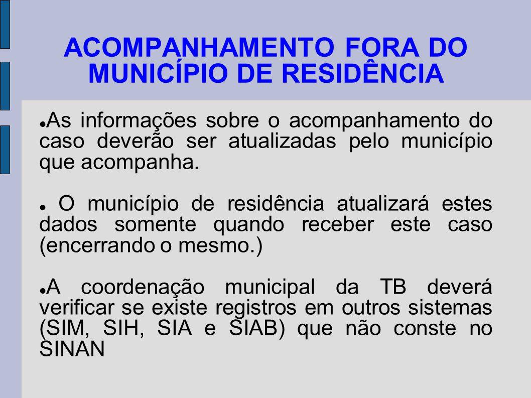 ACOMPANHAMENTO FORA DO MUNICÍPIO DE RESIDÊNCIA