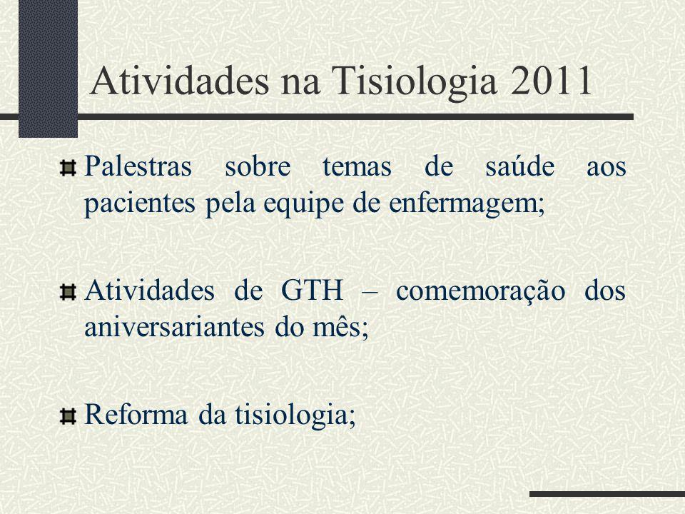 Atividades na Tisiologia 2011