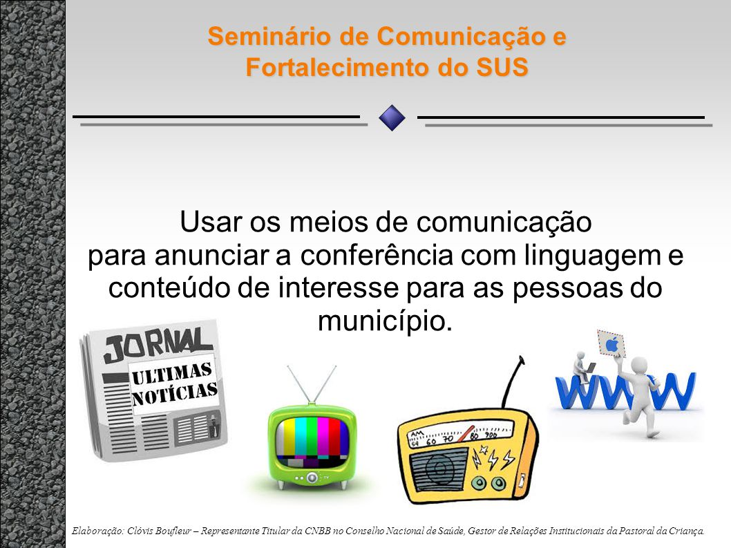 Seminário de Comunicação e Fortalecimento do SUS