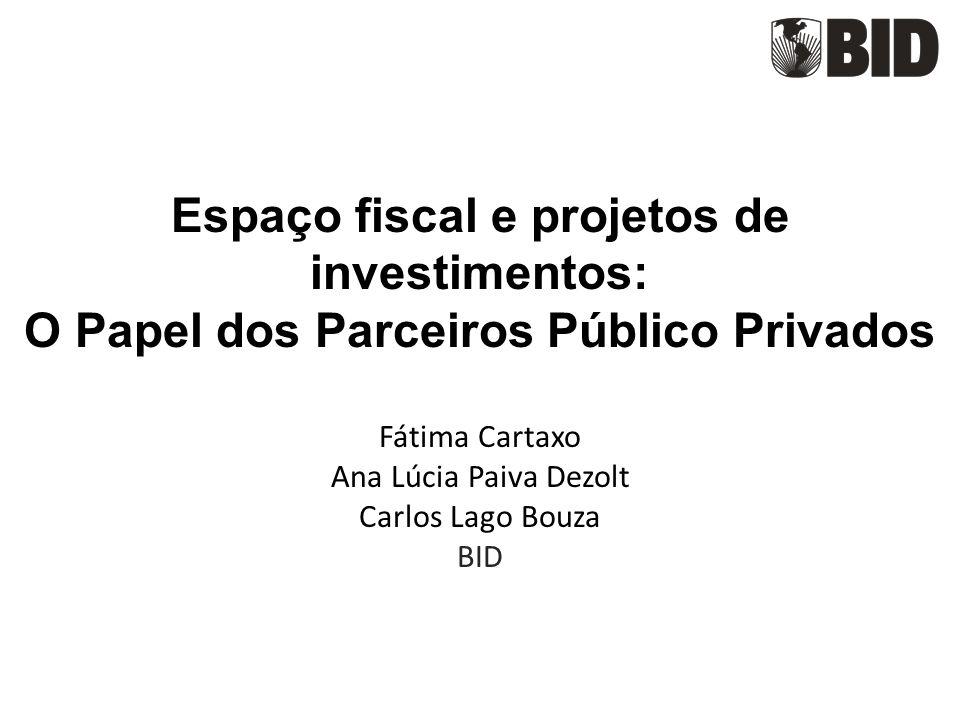 Espaço fiscal e projetos de investimentos: O Papel dos Parceiros Público Privados