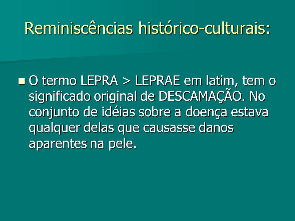 Reminiscências histórico-culturais: