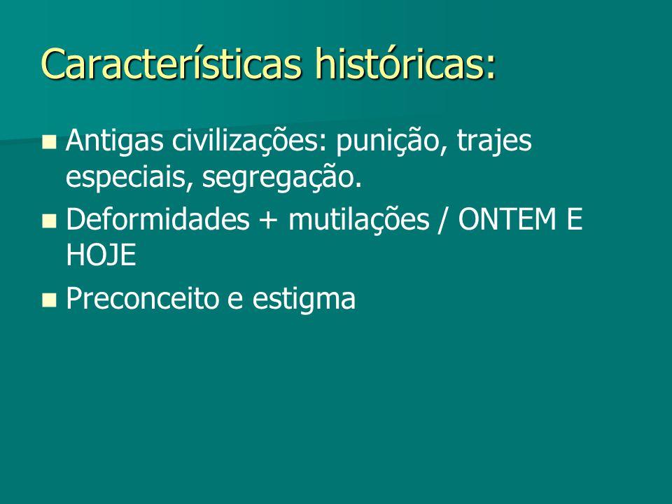 Características históricas: