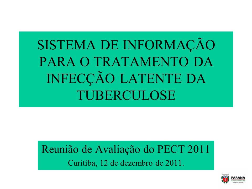 Reunião de Avaliação do PECT 2011 Curitiba, 12 de dezembro de 2011.