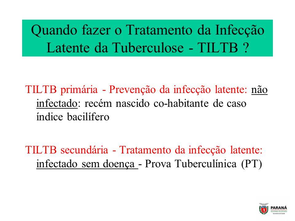 Quando fazer o Tratamento da Infecção Latente da Tuberculose - TILTB
