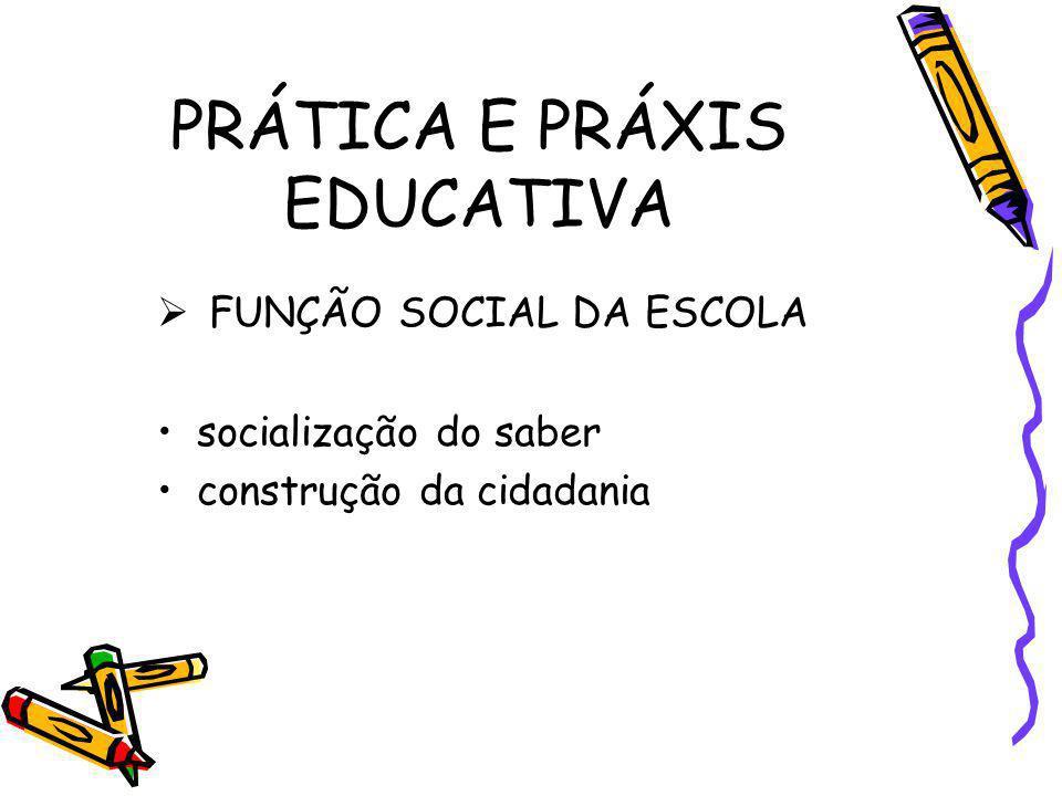 PRÁTICA E PRÁXIS EDUCATIVA