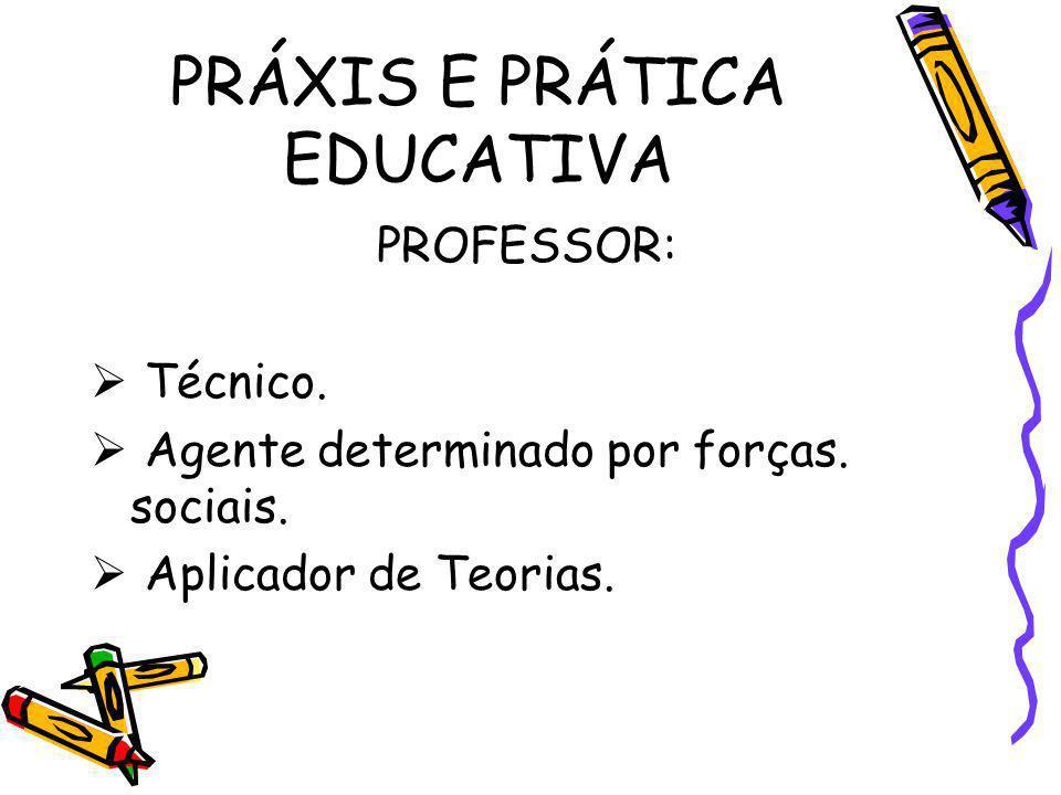 PRÁXIS E PRÁTICA EDUCATIVA